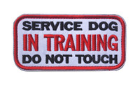 Tactical SERVICE DOG IN TRAINING DO NOT TOUCH Patches Embroi...