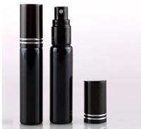 10ML Refill mini botella portable del perfume del atomizador del aerosol Botellas Botellas vacías de envases cosméticos de color Negro Oro