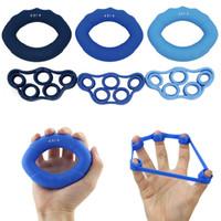6 pçs / lote Muscular Treinamento de Força Anel De Aperto de Silicone Força Exercitador Dedo Aperto de Mãos Musculação Fitness Equipmentement Anel