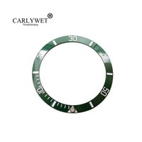 CARLYWET Wholesale Replacement Green With White Writings Bisel de cerámica 38mm inserto hecho para Rolex Submariner GMT 40mm 116610 LN
