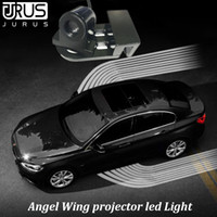 2Pcs Angel Wing Led Light Projector Sign Car Leader Welcome ...