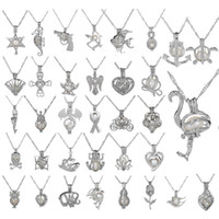 35 Stil Oyster inci kolye Salkım Unicorn Kafesleri Locket Hollow Out Aşk İstek İnci Kolye Gül Çiçek Denizkızı DIY takı