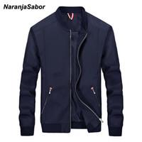 NaranjaSabor мужская брендовая одежда 2018 осень мужская повседневная куртка мужская ветровка Весна тонкий мужчины пальто мужской моды и пиджаки 4XL