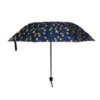 1 powlekany winylowy parasol / deszczowy parasol, wzór cytrynowy Mały świeży styl projekt ręczny składany parasol słoneczny