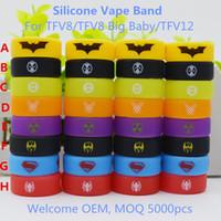Colorato Diversi tipi Silicone Vape Band Band Borsa Cerchio Anelli Cerchio OEM Logo Custome per serbatoio da 24 mm da 32mm