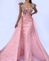 2019 pink fashion Beaded prom dress floor length Formal Long...