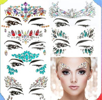 100pcs Bohemia Tribal Style 3D Crystal Sticker Face And Eye ...