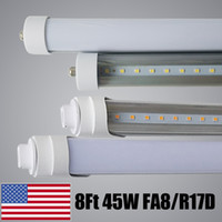 Standard USA FA8 Single Pin 8FT T8 Led Light Tubes 192LEDs 2...