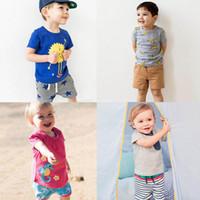 BST29 Neuheiten Little Maven Kids 100% Baumwolle Kurzarm Cartoon Bananen Tiere Druck Jungen Set kausalen Sommer Jungen Set T-Shirt + Hose