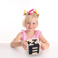 Madeira Luban Bloqueio Educacional Para Adultos Crianças Estilo Cubo Mágico Cérebro Teaser 3D Rússia Kong Ming Bloqueio