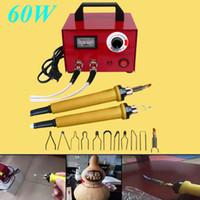 220 V 60 Watt Multifunktions Laser Pyrography Stift Maschine Kürbis Holz Handwerk Tool Kit
