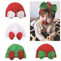 2018 Christmas baby hat Accessories Ins Infants Cute Big Bow...