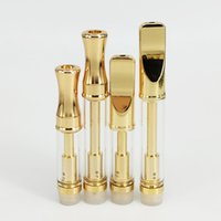 Golden 92A3 Empty Vape Glass Cartridge CE3 Pyrex Glass Dual Coil Thick Oil Atomizer Wax Vaporizer Pen Cartridges 510 Thread Clearomizer