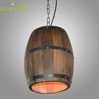 Grosshandel American Country Loft Holz Weinfass Hangenden Leuchte