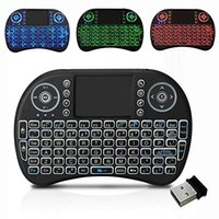 Mini teclado con 3 backlits y multi-idiomas, teclado inalámbrico de 2.4Ghz para Android TV inteligente y computadora con Windows