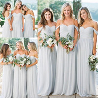 Cheap Western Country Chiffon Bridesmaid Dresses A Line Off ...