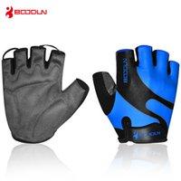 Boodun нескользящие Велосипедные перчатки половина палец дышащий Велоспорт перчатки лайкра противоскользящие езда на велосипеде дышащие перчатки 7 цветов