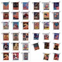 33design USA Union Garden Flags Partito Home Decor Bandiera Americana Serie Modello Double Sided Giardino Bandiera Casa Prato Decor 47 * 32 cm FFA1929 50 pz