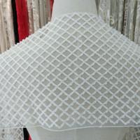 22CM di alta qualità pizzo rayon ampia bianco con perline ricami in pizzo abito da sposa in pizzo nastro cucito Accessori M004