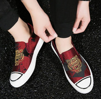 2018 New high quality men' s shoes Tiger head embroidery...