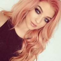 Fast Shipping Peach Red Long Wavy Wigs For Women Pink Wig He...