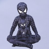 Cosplay Spandex zentai evil black spiderman costume Hallowee...