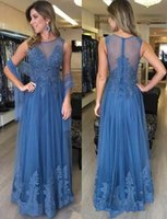 sarahbridal Elegant Blue Formal A Line Evening prom Dresses ...