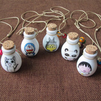 Nuovo design anime Cartoon profumo Wishing bottiglia collana per donna vintage pendente gioielli in ceramica catene maglione