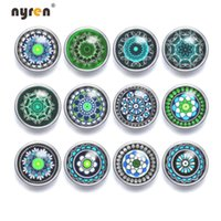 New 12pcs  lot Mixed Colors cabochon12mm Mini Glass Snap But...
