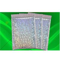 홀로그램 필름 폴리 버블 메일러 슬리버 익스프레스 포장 가방 휴대용 다채로운 알루미라이더 홈 스토리지 거품 가방 0 89xR BB