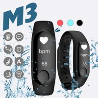 M3 Smart Bracelet Waterproof Smart Sport Wristbands Blood Pr...