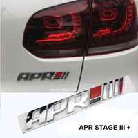 Abs APR Stage III + Emblème Tail Sticker Badge Pour Audi A4 Q5 Pors Volkswagen Golf 6 7 GTI Scirocco R20 Car Styling