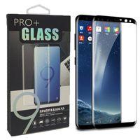 Para s10 plus s10e protetor de tela de vidro temperado amigável filme curvo 3d para samsung s9 s8 plus nota 9 8 s7 edge