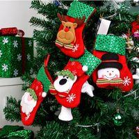 Bas De Noël 4 Types De Noël Paillettes Chaussettes Cadeaux Sacs Sacs À Bonbons Cartoon Cartoon Bas Arbre De Noël Décor Père Noël Bonhomme De Neige