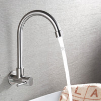 Into wall single hole single cold tap, 304 stainless steel ha...