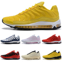 New Arrivals 97 Air TN Plus WM Men Running Shoes Yellow Silv...