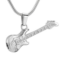 Guitar Cremation Necklace for Ashes Stainless Steel Memorial...