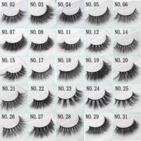 3D Vison Faux Cils À La Main Naturel Long Doux Premium Qualité Véritable Vison Faux Cils Femmes Maquillage Réutilisable Eyelashe 1 Paire pack