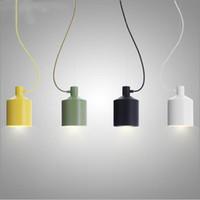 현대 작은 알루미늄 다이닝 룸 주방 키즈 룸 펜던트 램프 조명 녹색 / 옐로우 / 블랙 / 화이트 북유럽 일시 중단 된 조명 E26 / E27 1 빛