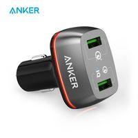 Hızlı Şarj 3.0 Anker 42W 2 Portlu USB Araç Şarj Cihazı PowerDrive + 2 Hızlı Şarj 3.0 ve Hızlı Şarj 2.0 PowerIQ ile