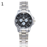 Ladies Watches Stainless Steel Band Women's Wristwatch Three-eyed Simple Scale Quartz Watch  Dress Female Clock Reloj