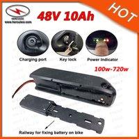 핫 !!! 고품질 13S4P 48V 10Ah 배터리 Hailong 48V 전기 자전거 배터리 700W 리튬 이온 상어 배터리 팩 2A 충전기