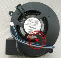 الأصلي SF72H12-53E 7020 12 فولت 250ma 7 سنتيمتر العارض منفاخ مروحة التبريد SF72H12-56E SF72M12-01A