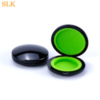 Round style wax container silicone jars black clear shell 6m...