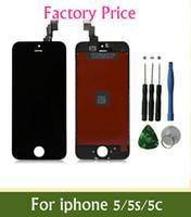 مصنع أسعار الجملة الصف ++ LCD لفون 5 5S 5C شاشة LCD تعمل باللمس محول الأرقام مجانا أفضل استبدال إصلاح مع أدوات إصلاح
