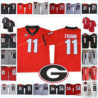 Georgia Bulldogs Jake Fromm Kolej Futbol Formalar Todd Gurley Nick Chubb Herchel Walker Sony Michel Jacob Eason Roquan Smith NCAA Bulldog