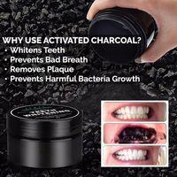 Denti bianco polvere natura attivata carbone di carbone sorriso decontaminazione dente giallo macchia bambù dentifricio per dentifricio