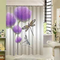 Shower Curtain Decor With Beautiful Floral Polyester Fabric ...