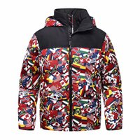 Mens Designer Jackets 3 Types Fashion Printed Hooded Camo Ja...