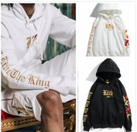 Designer Brand Hoodie Fashion kith broderie Rose Femmes Luxe Hoodies Roses Imprimé Coton Hip Hop streetwear Sweat-shirts Casual Veste